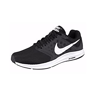 Nike Herren Downshifter 7 Laufschuhe, Mehrfarbig (Black/white), 44 EU