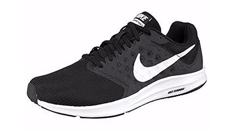 Nike Herren Downshifter 7 Laufschuhe, Mehrfarbig (Black/white), 46 EU