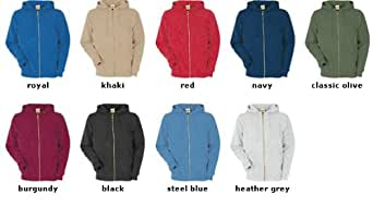 Fruit of the Loom Classic Hooded Sweat Jacket Oliv,S