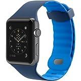 """Belkin - Bracelet """"Sport"""" pour Apple Watch & Apple Watch Series 2 - 42mm - Bleu marine"""