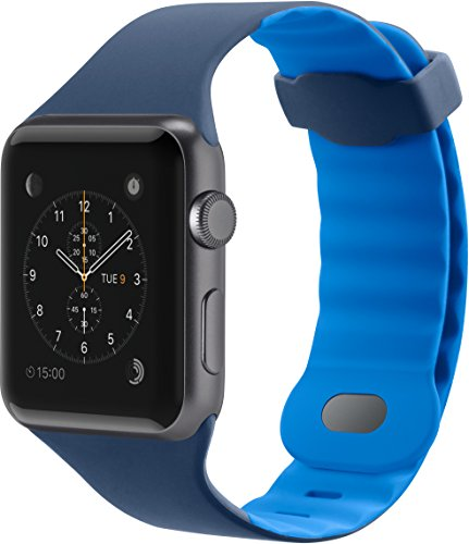 Belkin F8W729btC02 - Correa deportiva para Apple Watch Series 2 y Series 3 (38 mm), color azul marino