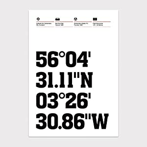 Dunfermline Athletic, Stadium Coordinates, Football Wall Art Print