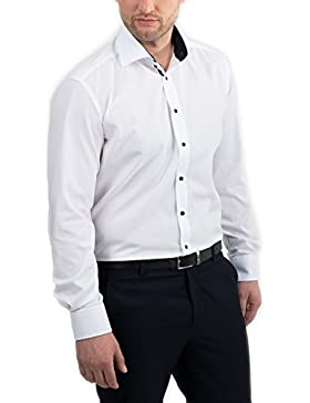 ETERNA Langarm Hemd SLIM FIT unifarben