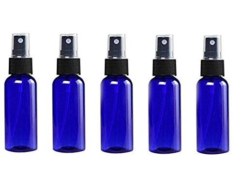 20 Unzen Flüssigkeit (Unzen 6/6030ml/LSF15blau Kunststoff Flasche mit Schwarz Fein Mist Spritzen ätherisches Öl Parfüm Behälter für Gebrauch Zuhause und auf Reisen)