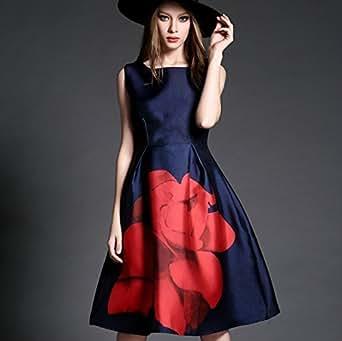 Earth Creation Women's Dress (EE101023_Blue_Large)