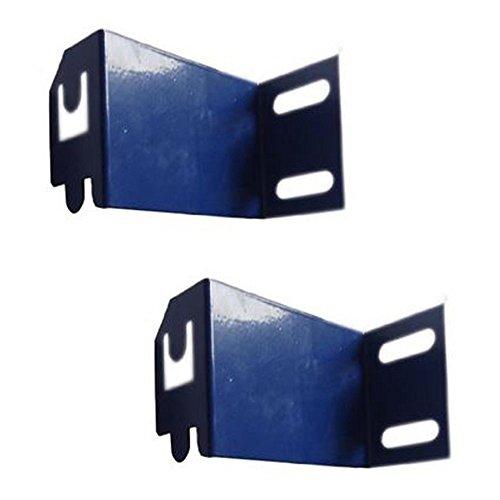 VonHaus 2x Wandhalterungen Verzinkte Stahlbefestigung Klammern Krawatten 100mm tief, um sicher zu passen VonHaus Garage Regal Racking (15/002) zu Ihrer Garage / Werkstatt Wand