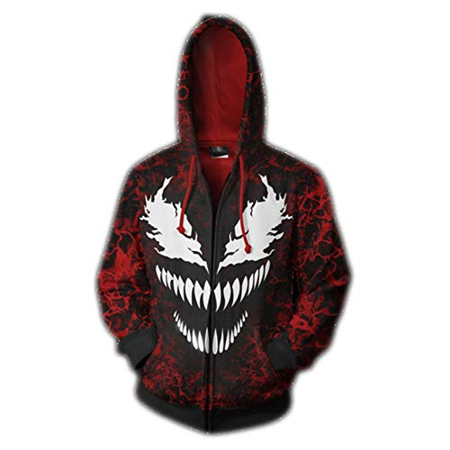 Dwygx Unisex Hd 3D Druck Anime Printingsweatshirts Hooded Fashion Freizeitjacke Coat Cardigan Iron Fist Sweatshirt XXL (Iron Fist Cosplay Kostüm)