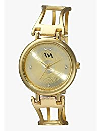 Watch Me Gold Dial Gold Metal Watch For Women And Girls WMAL-139 WMAL-139omt