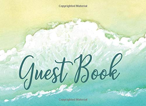 Guest Book Beach Teal Turquoise Watercolor ()