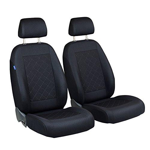 207Coprisedile anteriore–per guidatore e passeggero–Colore Premium Nero gepresstes Motivo Scozzese
