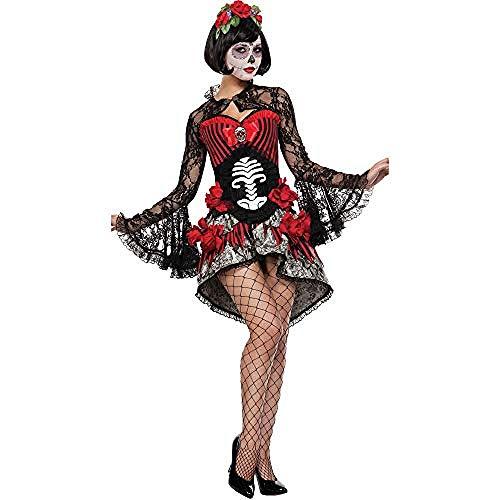 Generic Erwachsene Cosplay Schwarz Kostüme Frauen Halloween Kostüm Make-Up Prom Ghost Bride Skeleton Dämon Rollenspiel Party Kostüm Vampir Kostüm Schwarz @ (Wirklich Coole Superhelden Kostüm)
