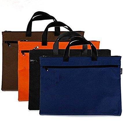 Porte-documents ou sacs ordinateur noir portable officiel avec zip pour
