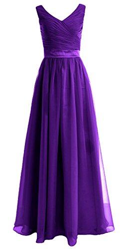 MACloth - Robe - Trapèze - Sans Manche - Femme Violet - Violet