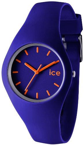 ICE-Watch - Montre Mixte - Quartz Analogique - ICE - Blue - orange - Unisex - Cadran Bleu - Bracelet Silicone Bleu - ICE.BE.U.S.12