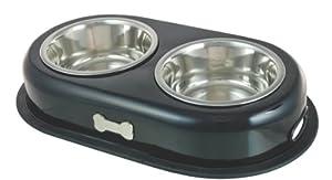 Buckingham Double Dog Bowl, Black (2 X 0.45 Ltr) by BIIA4