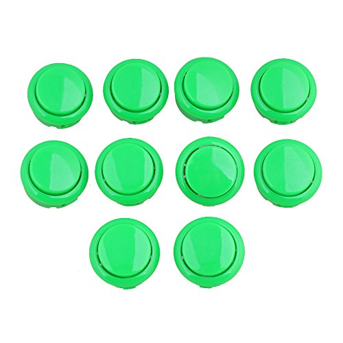 bqlzr-10pcs-green-arcade-push-button-replacement-fitting-parts-30mm-diameter-obsf-30