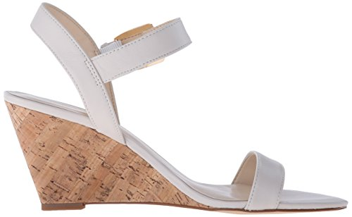 Nine West Kiani en cuir Wedge Sandal Off White