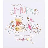 Hallmark Disney Mum Winnie the Pooh Card Perfectly Wonderful - Small