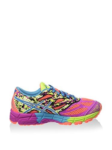Asics Gel-Noosa Tri 10 Gs, Chaussures de Running Entrainement Mixte Enfant, 36 EU Coral/Turquoise