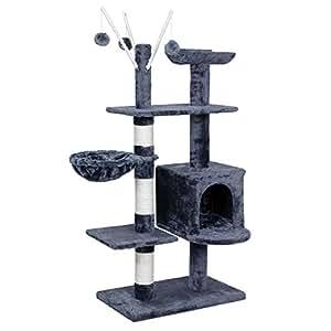 songmics arbre chat grande griffoir niche 4 tages 131cm pct34g animalerie. Black Bedroom Furniture Sets. Home Design Ideas