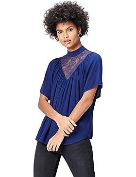 FIND Lace Yoke, Blusa Para Mujer
