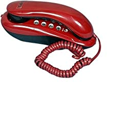 Ae zone Landline Telephone Corded Phone Orientel KX-T333 For Office and Home Purpose Red