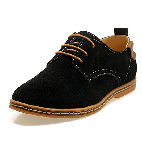 Men's Solid Lace Up Comfortable Oxford Shoes 1