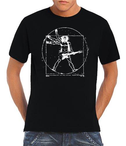 Touchlines Herren T-Shirt Da Vinci Rock Guitar, Black, S, B210513TS Preisvergleich