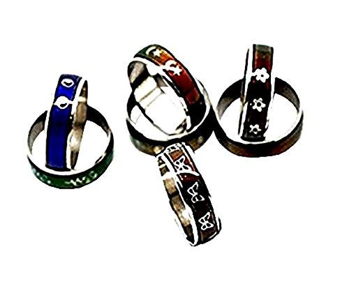 5 X Stimmung Ringe, Die Farbe Mit MischentwüRfen GrößE Innendurchmesser 1,7Cm äNdern. Geschenkidee FüR - Ringe Stimmung Kinder