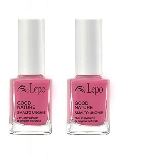 lepo-2-confezioni-di-smalto-good-nature-n52-rosa-intenso-massima-resistenza-e-lucentezza
