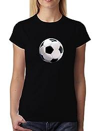 avocadoWEAR Fútbol Pelota Sport 3D Mujer Camiseta ...