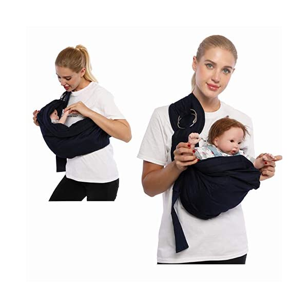 Kangaroobaby Baby Sling Wrap Carrier One Size Fits All Adjustable for Newborn to 33 Lbs Blue Color CUBY Important tips:this product is desiged as comfortable and breathable sling for newborn baby,so the material is thinner but don't worry,it is strong enough to the baby up to 33 lbs. we suggest:fit for 0-32 months and below 33 lbs baby,but more comfort to below 20 lbs baby. Babywearing benefits - This sling allows you to carry your newborn in the same position they have assumed in the womb, making it easy for eye contact to bond with your new loved one. The rockin soft, snug feeling of the sling and the sounds of mom's heartbeat and voice helps calm the baby. Research shows that babies who are carried in a sling cry less, sleep more peacefully, nurse better and gain weight better, enjoy better digestion and even helps for colic and reflux babies. 100% pure cotton lends breath-ability and skin-friendly,keeps it lighter.Machine washable. Follow our clear instructions (as show as in the picture ), and you'll be wrapped up in under a minute! Perfect fit for preemies, Versatile one size fits all carriers and slings that are quick, easy and simple to adjust using the ring in order to carry your child easy and safely. Our new sling can be used by mom or dad and is suitable for a boy or a girl. The perfect baby shower gifts for boys or girls. 2