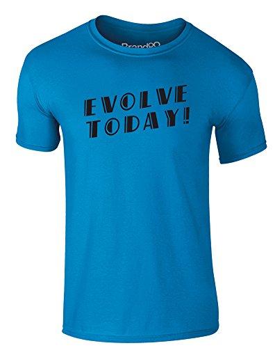 Brand88 - Evolve Today!, Erwachsene Gedrucktes T-Shirt Azurblau/Schwarz
