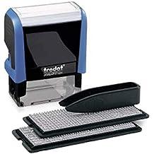 Trodat Printy 4912 Typo Textstempel zum Selbersetzen 4-zeilig, blau, Abdruckfarbe schwarz