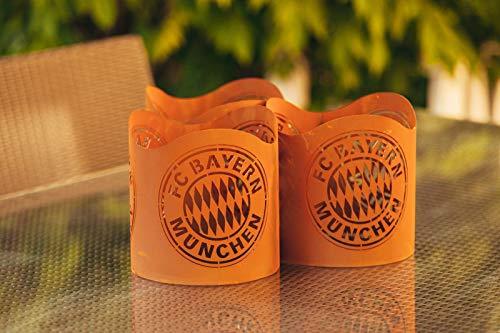 feuerfa  FC Bayern Teelichthalter/Windlicht ** Rost **