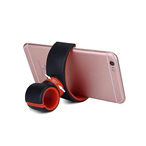 Roop multifunzione auto supporto supporto staffa, volante di aerazione auto, bicicletta Manubrio supporto supporto per cellulare, iPhone, GPS, Torcia (Rosso e Nero) ¡