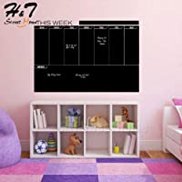 Utopiashi Week Plan Calendar Memo Vinyl Wall Decal Sticker Erasable Blackboard Chalkboard