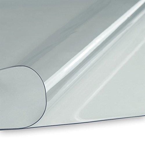 fensterplane LYSEL® PVC Klarsichtfolie Fensterfolie Plane 1,0mm 140cm breit transparent durchsichtig UV-beständig