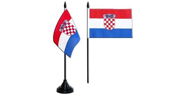 gratis Aufkleber Tischfahne Kroatien Tischflagge Flaggenfritze/®