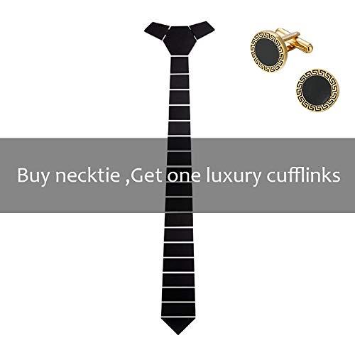 Gold Stripe Bow Tie (CEKINF Handmade Geometric Shape Wide Space Stripe Krawatten Schwarz Matt Self Tie Bow Tie Geschenkbox Hochzeit Bow Tie Tuxedo)