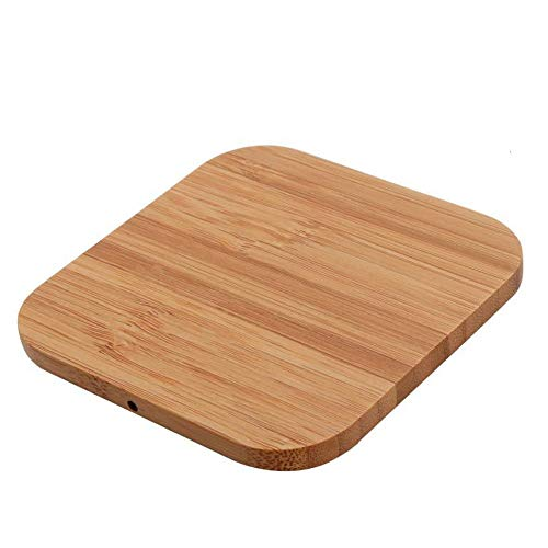 samLIKE Holz Wireless Charger für iPhone X/XS / XS Max/XR / 8/8 Plus, Mode Induktive Qi Ladegerät Kabellos Ladestation für Galaxy Note 9/ S9/ S9 Plus/Note 8/ S8/ S8 Plus usw (Holz) -