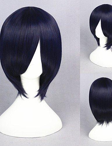 BBDM 13inch courte tokyo goule-touka bleu foncé cosplay perruque