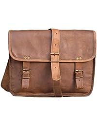 ECHO Leather Bag Vintage Handmade Brown Sling Bag 13 Inch