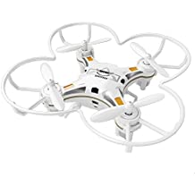 SBEGO 124 Mini RC Quadcopter Micro Drone bolsillo 2.4GHZ 6-Axis de control remoto con 3D Flip Headless Mode Una función de retorno clave Helicopter Toys para principiantes (blanco)