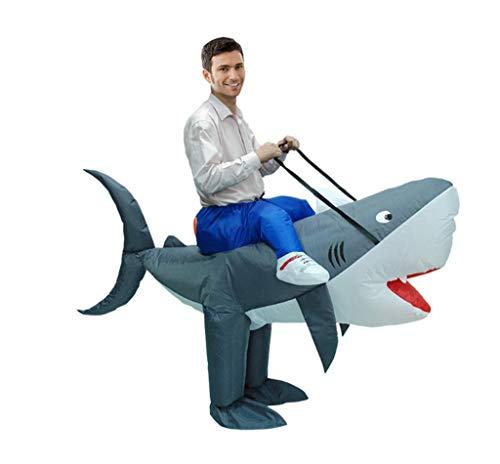 CJN Erwachsene Aufblasbare Fancy Kleid Party Lustigen Jumpsuit, Raptor Dinosaurier Urmilch Cowshark,Shark