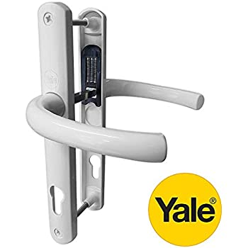 Lever Pair Avocet Polished White Affinity Door Handle Set 92PZ 92mm Sprung Lever Screw to Screw fixings 215mm UPVC PVC PVCu by Avocet
