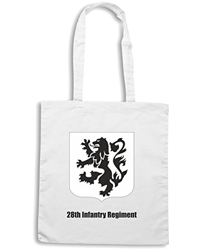 T-Shirtshock - Borsa Shopping TM0357 28th Infantry Regiment usa Bianco