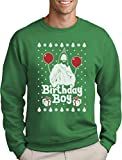 Green Turtle T-Shirts Jesus Christus Birthday Boy Witziger Weihnachtspullover Sweatshirt Large Grün
