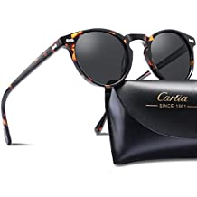 Carfia Gafas de Sol Polarizadas mujer hombre Retro Estilo gafas UV400 gafas de sol para conducir viajes playa