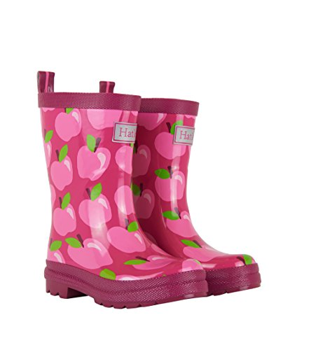 Hatley Printed Rain Boots, Mädchen Arbeits-Gummistiefel, Rosa (Pony Orchard), 8 US Child
